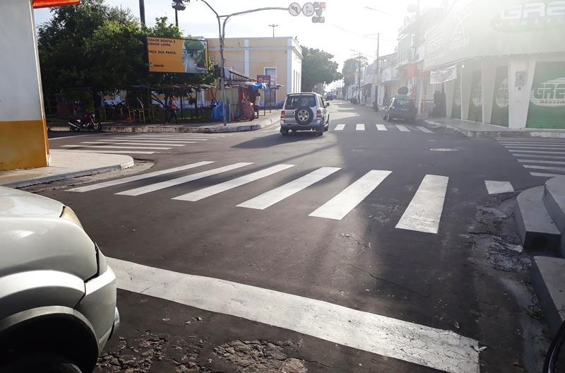 Imprudência nas ruas de Parintins