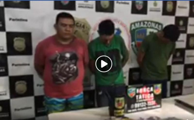 Apresentação dos assaltates do Banco da Amazônia