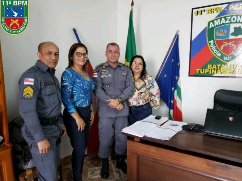 Em parceria com a Seduc, Polícia Militar implanta projeto escola segura e cidadã em Parintins