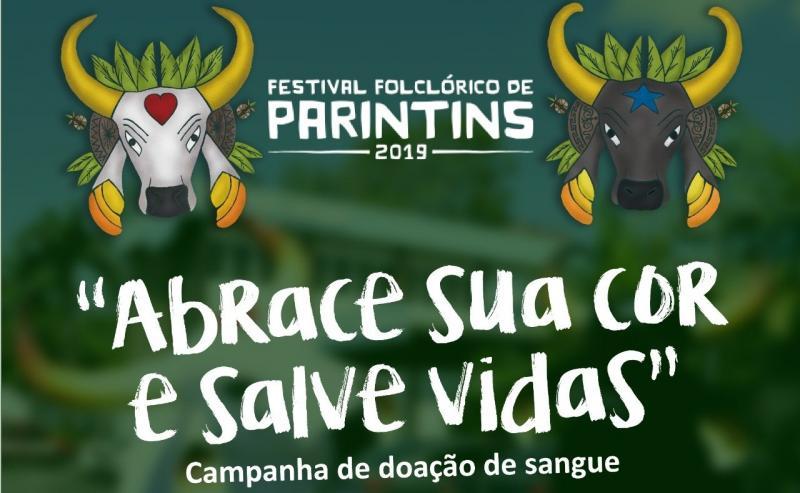 Campanha de doação de sangue para o Festival Folclórico de Parintins.