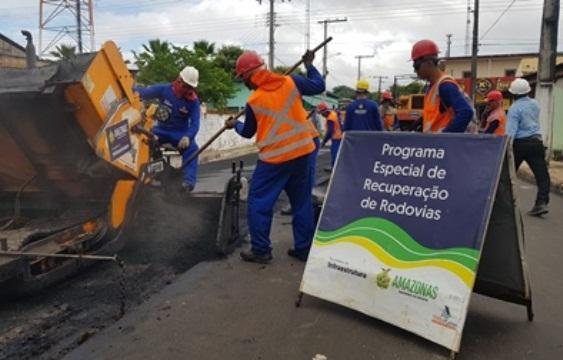 Seinfra reinicia obras do sistema viário de Parintins no dia 3 de julho
