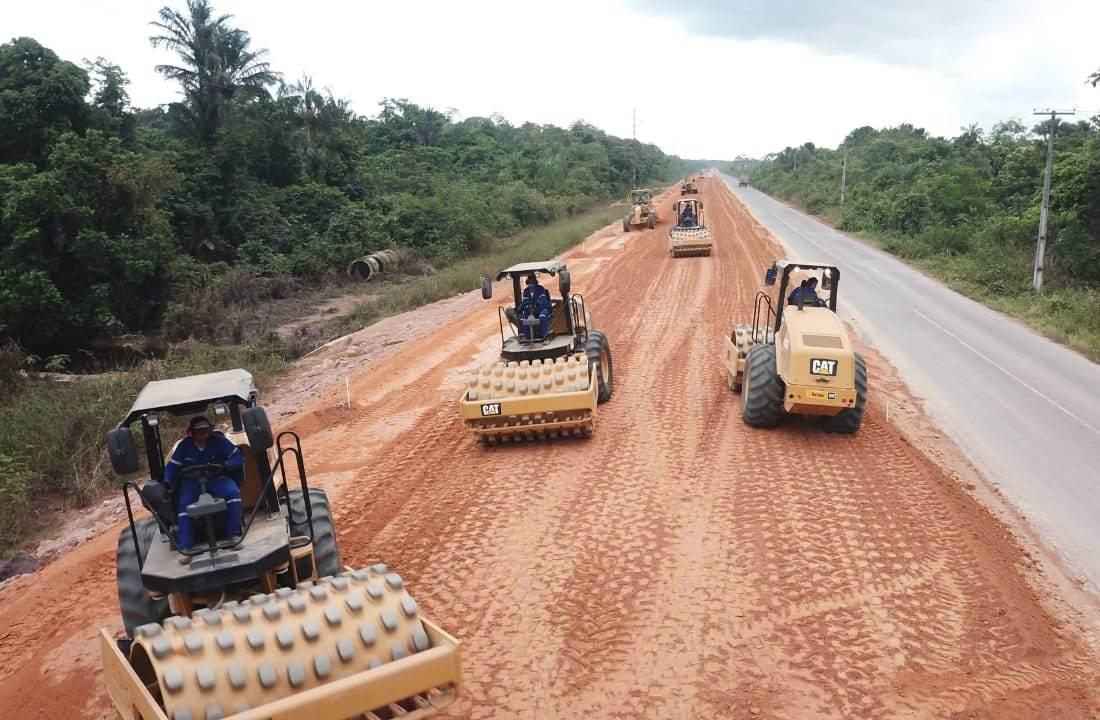 Obras de infraestrutura avançam na Rodovia AM-070