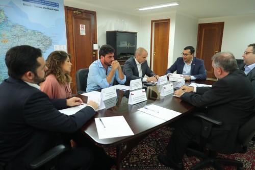 Wilson Lima reúne com executivos de empresa que vai explorar gás no Amazonas