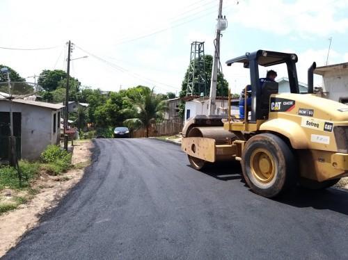 Manaquiri tem as ruas recuperadas pela Seinfra