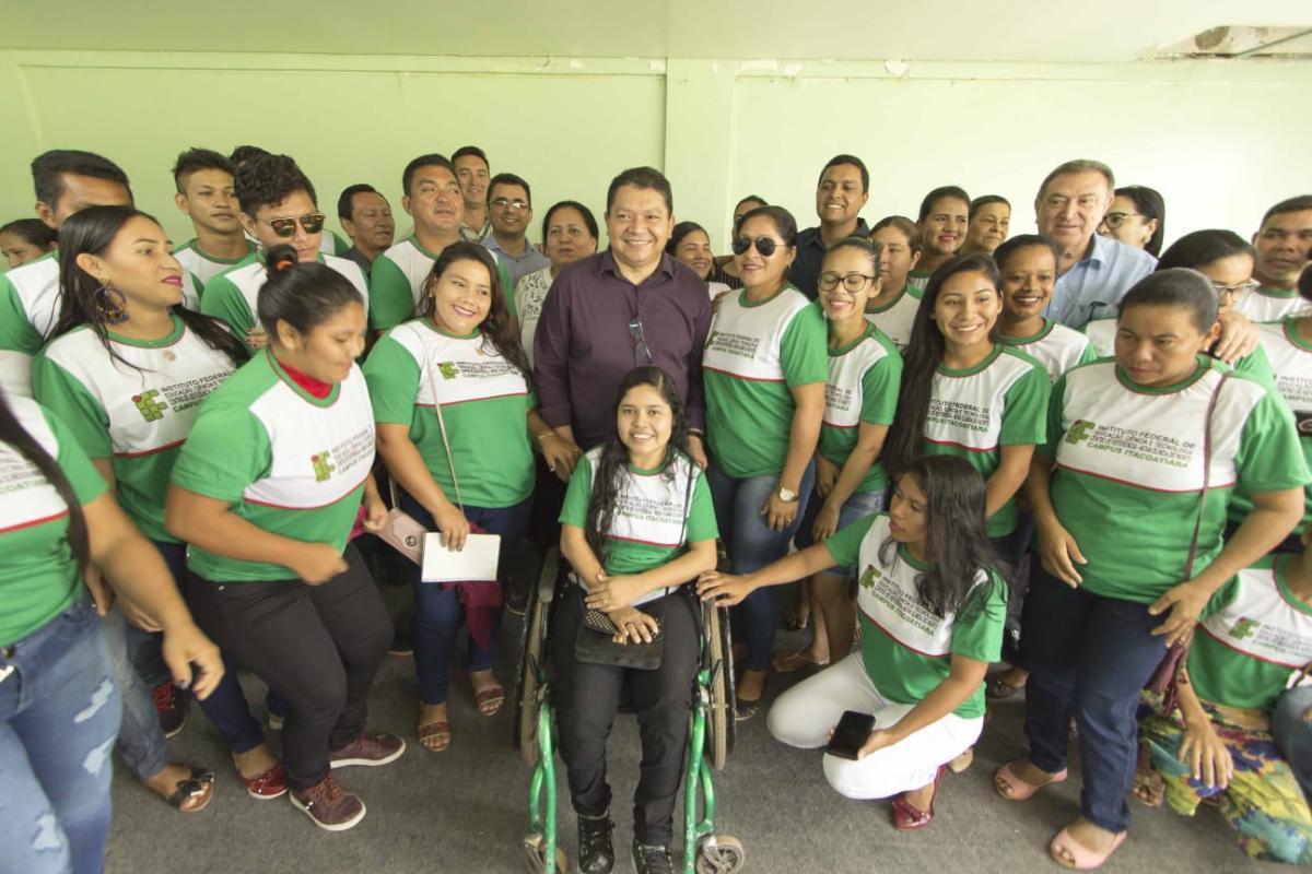 Aula inaugural do centro de referência do IFAM em Nova Olinda do Norte