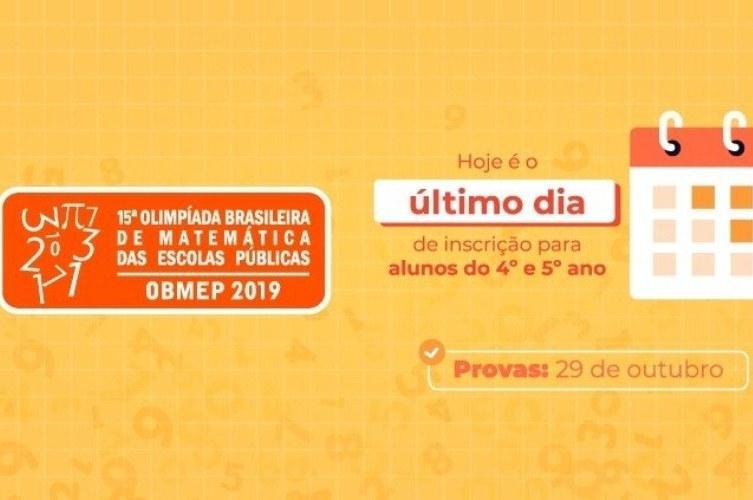 Último dia de inscrição na Olimpíada de Matemática do 4º e 5º anos