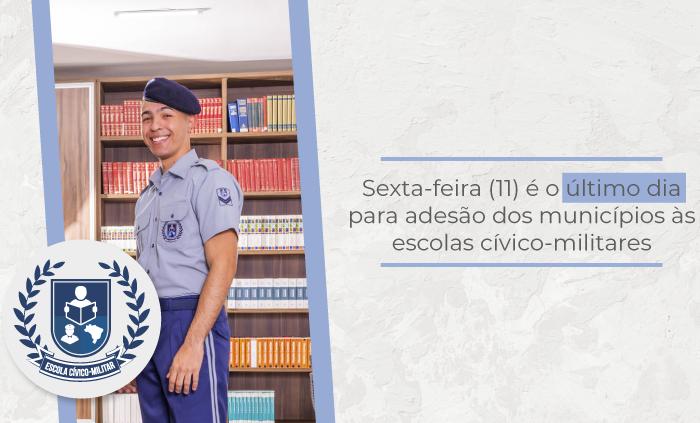 Municípios podem aderir às escolas cívico-militares até hoje, (11/10)