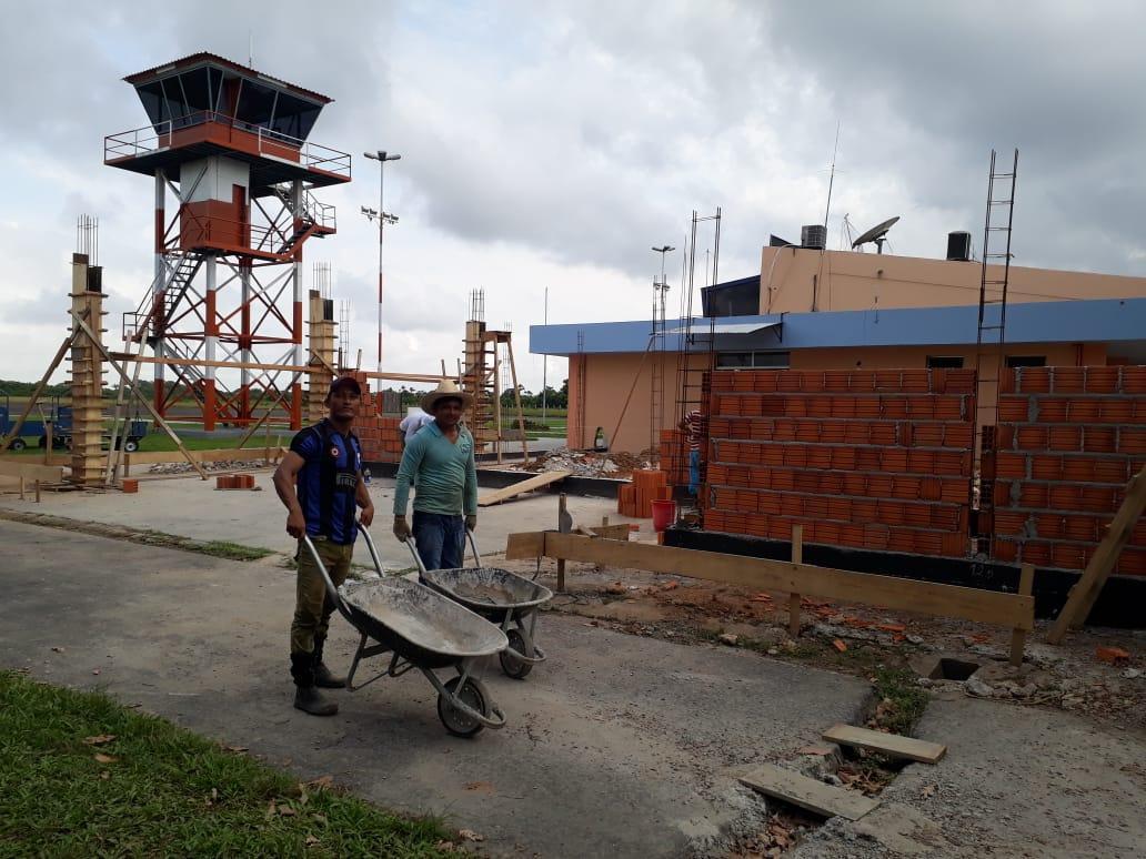 Trabalhos de reforma e ampliação avançam no Aeroporto Júlio Belém