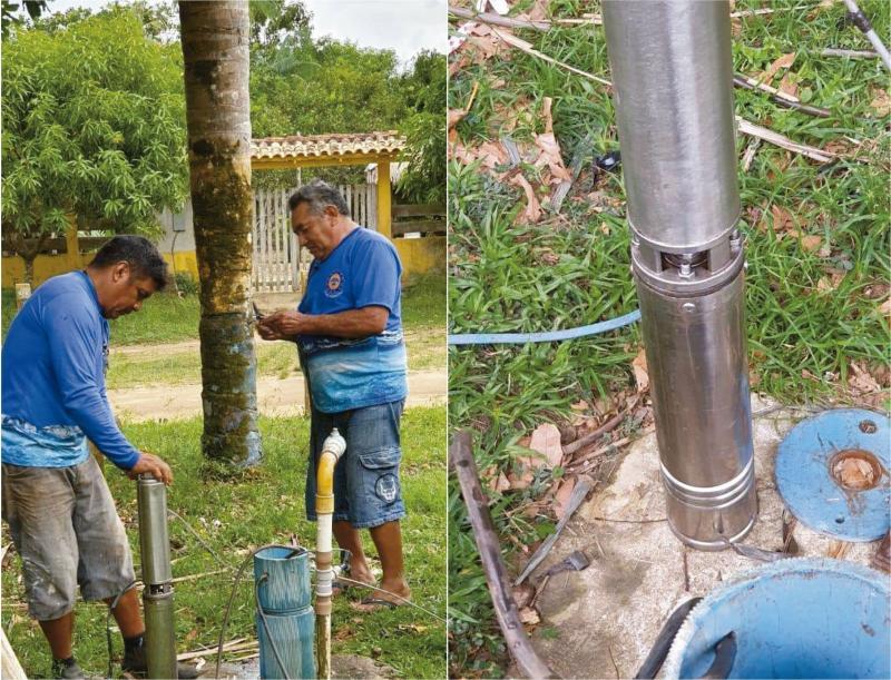 Saae instala pela terceira vez, em trinta dias, nova bomba submersa na comunidade Parananema