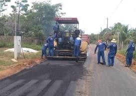 Obras de recuperação do sistema viário de Novo Airão entram na reta final