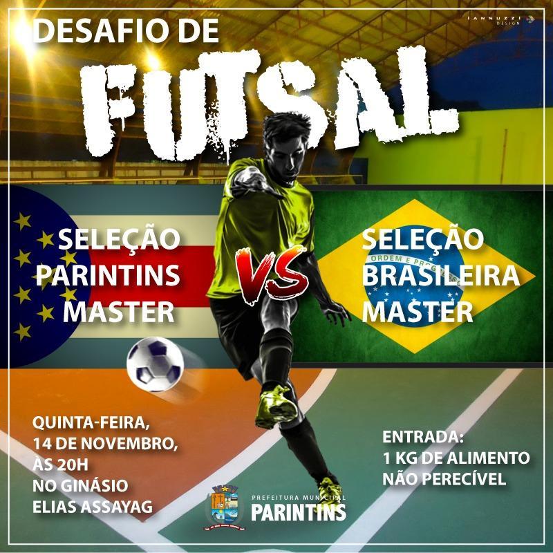 Seleção de craques do futsal brasileiro fará jogo em Parintins