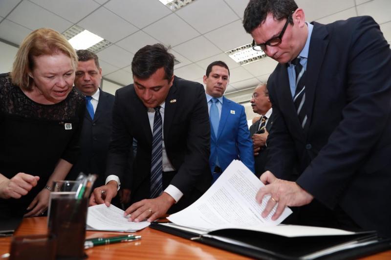 Wilson Lima e Sérgio Moro inauguram Centro Integrado de Inteligência de Segurança Pública Regional Norte