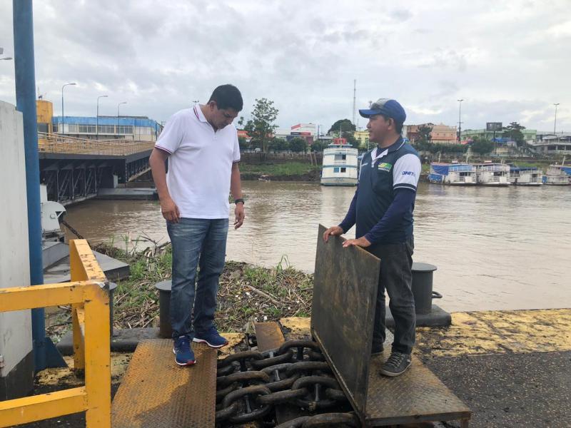 Bi Garcia diz que por questões burocráticas Porto de Parintins ainda não foi reaberto