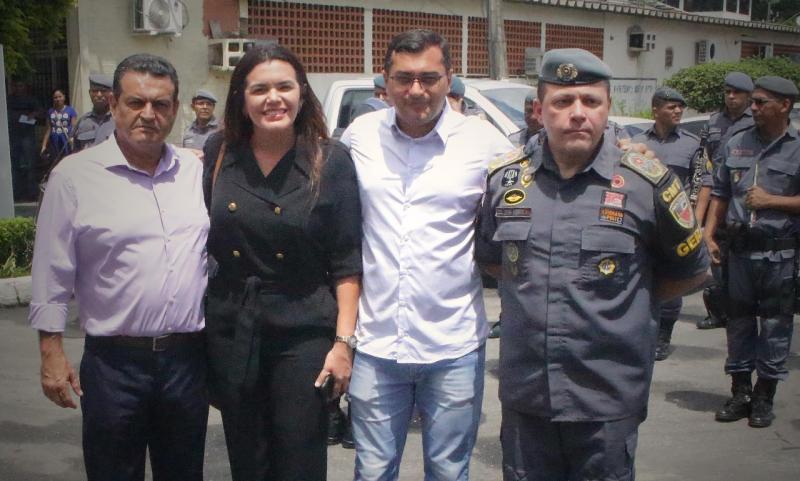 Alessandra Campêlo elogia segurança pública do Amazonas, em evento sobre auxílio-fardamento