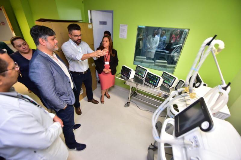 Novos equipamentos para UTI e centro cirúrgico começam a ser instalados no Hospital Francisca Mendes