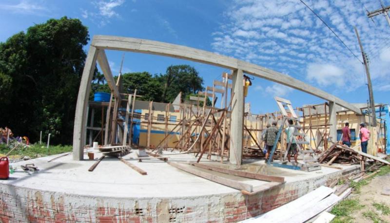 Na zona rural, Prefeitura de Parintins avança com construção e modernização de escolas