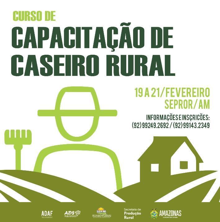 Sepror inicia na próxima semana mais uma edição do curso 'Caseiro Rural'