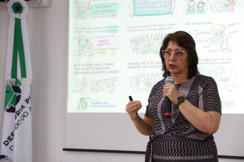 FVS conscientiza comunidade e servidores da Defensoria Pública sobre os cuidados na prevenção ao Coronavírus