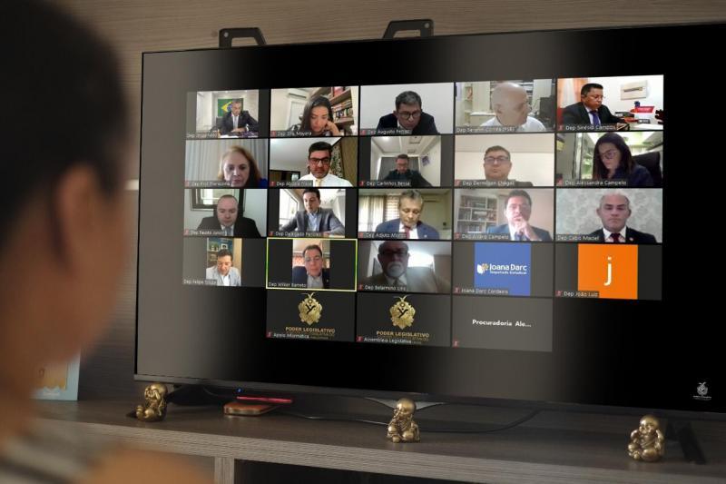 Em Sessões Virtuais deputados aprovam medidas para ajudar população durante pandemia