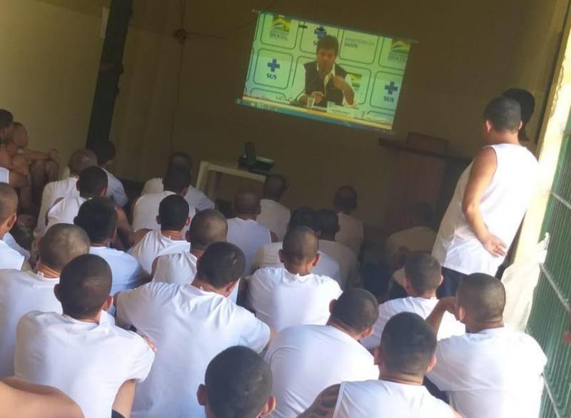Presos do regime fechado de Itacoatiara recebem orientações para prevenção ao novo coronavírus