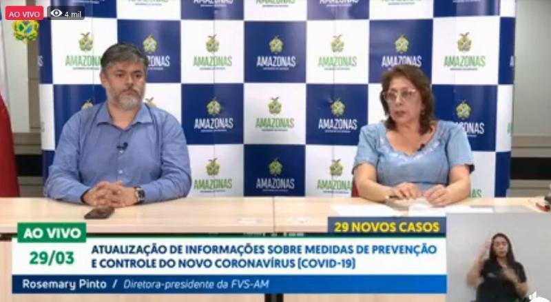 Amazonas registra 140 casos confirmados para coronavírus