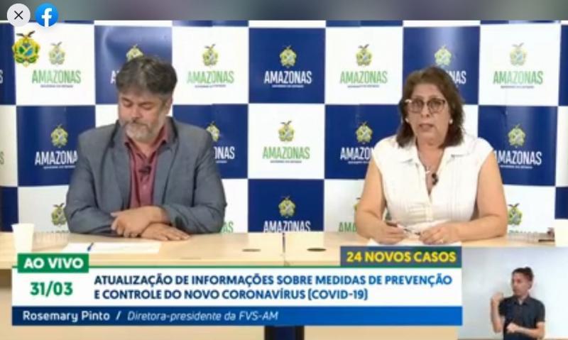 Amazonas está com 175 casos confirmados de coronavírus