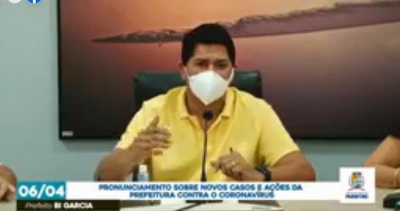 Prefeito Bi Garcia faz pronunciamento sobre novos casos de Coronavírus