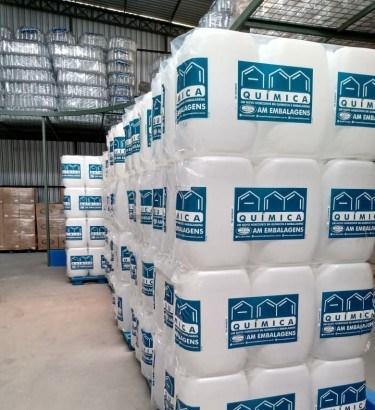 ADS doa mais de R$ 16 mil em bombonas para armazenamento de álcool 70%