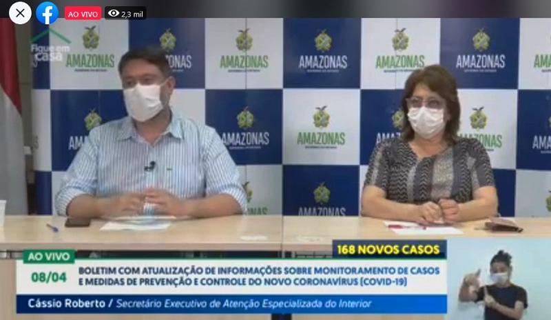 Chega a 804 casos do novo coronavírus no Amazonas, com 30 mortes