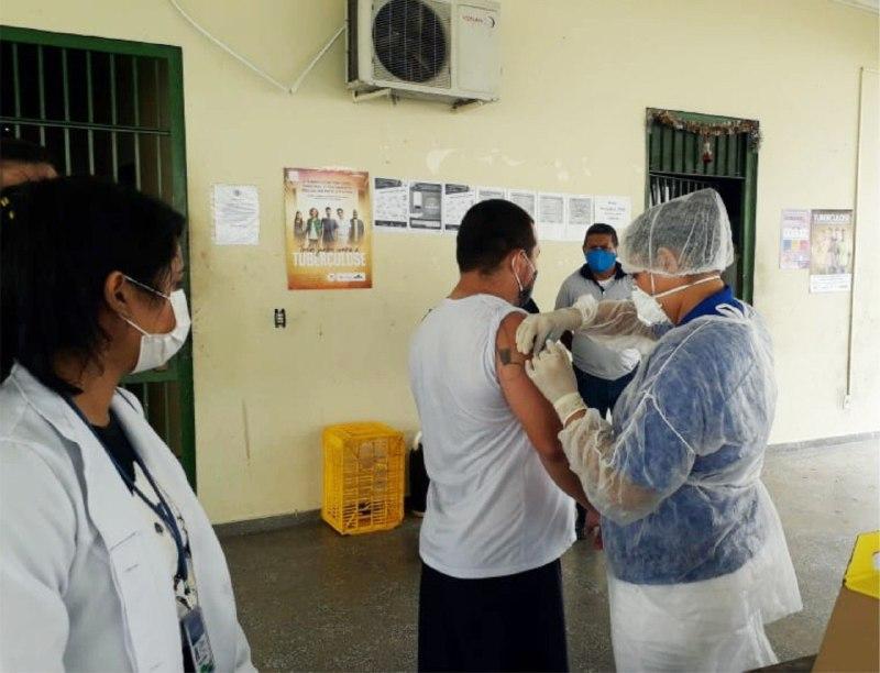 Seap continua a imunização contra H1N1 no sistema prisional