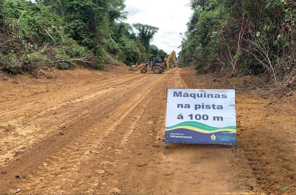Seinfra realiza obras de manutenção na Estrada de Novo Aripuanã