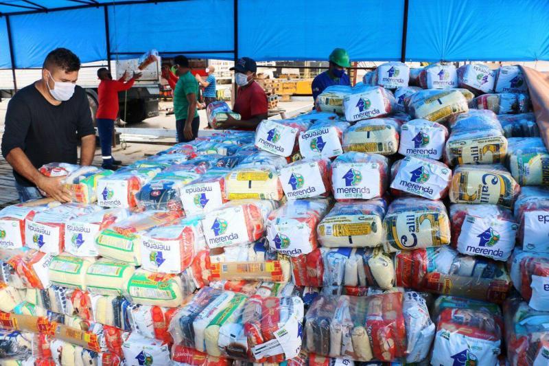 Mais de 18 mil kits do 'Merenda em Casa' serão enviados a municípios da calha do rio Madeira