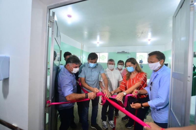Em Lábrea, Wilson Lima entrega Unidades de Cuidados Intermediários e insumos de saúde