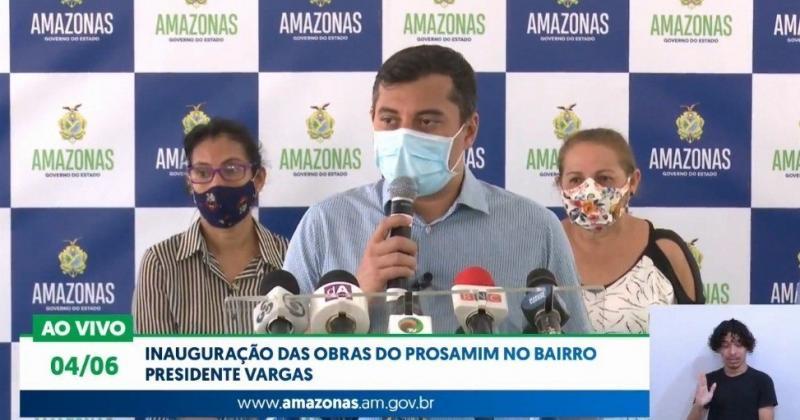 Wilson Lima inaugura obras do Prosamim no Presidente Vargas