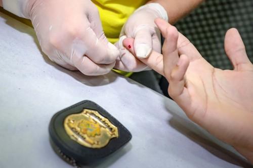 Polícia Civil promove testagem de Covid-19 em policiais da ativa