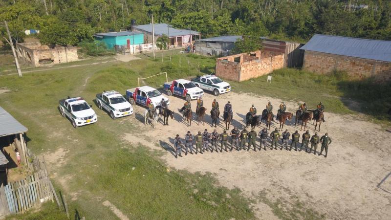 Polícia Militar e Polícia Nacional da Colômbia realizam operação conjunta em Tabatinga e Leticia