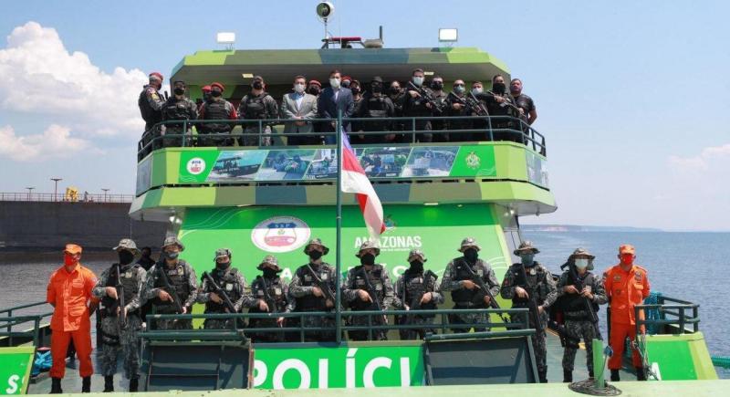 Inauguração da Base Fluvial Arpão e lançamento projeto de combate ao narcotráfico