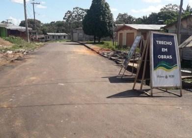 Governo do AM avança com as obras no sistema viário de Caapiranga