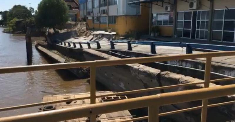 Desmoronamento em obra do Porto de Parintins