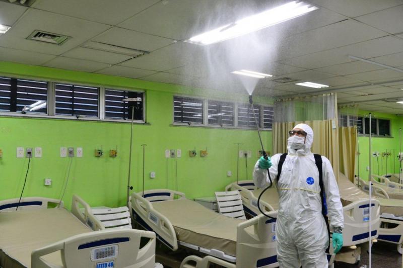 Fundação Hemoam passa por desinfecção nas salas de internações