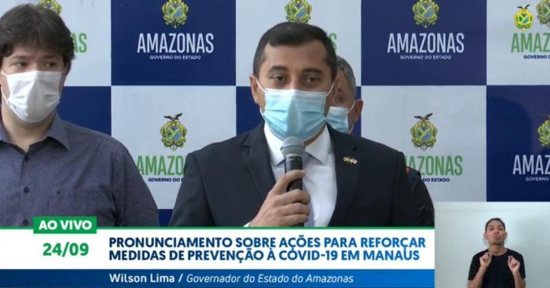 Wilson Lima anuncia ações para reforçar medidas de prevenção à Covid-19 em Manaus