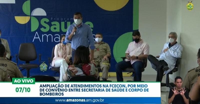 Wilson Lima amplia atendimentos na FCecon, por meio de convênio entre SES-AM e Corpo de Bombeiros