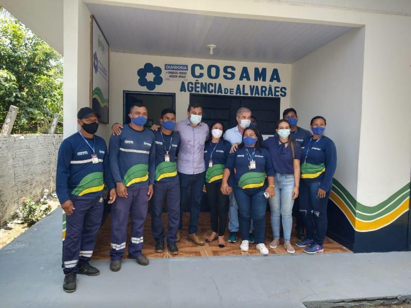 Governador Wilson Lima anuncia revitalização de escolas e da rede de saneamento no município de Alvarães