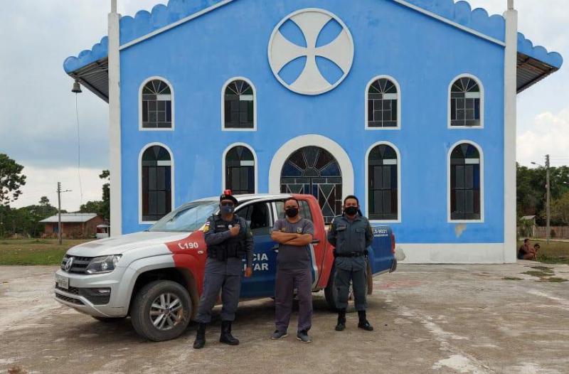 Polícia Militar intensifica ronda ostensiva em Terra Preta do Limão no município de Barreirinha