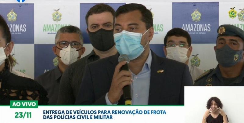 Wilson Lima entrega veículos para renovação de frota das Polícias Civil e Militar