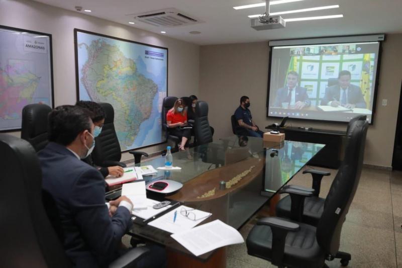 Em reunião do Conselho da Amazônia Legal, Wilson Lima destaca avanços no combate ao desmatamento e queimadas