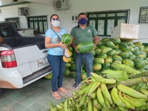 Idam em Borba auxilia entrega de 24 toneladas de alimentos ao PAA