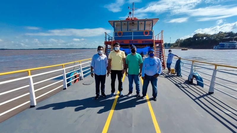 Para fortalecer o escoamento da produção, Prefeitura revitaliza ferryboat Artur Virgílio Filho