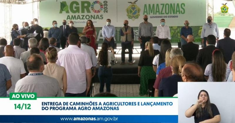 Entrega de caminhões a agricultores e lançamento do Programa Agro Amazonas