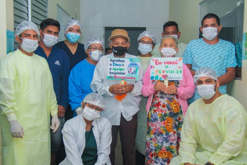 Em Barreirinha, mais quatro pacientes vencem a Covid-19 e recebem alta médica